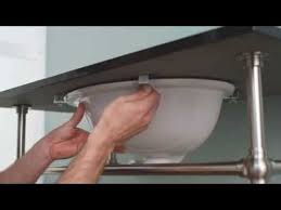 How To Install A Bathroom Countertop And Undermount Sinks  How How To Install Undermount Kitchen Sink
