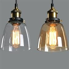 new amber glass shade ceiling chandelier fitting vintage retro pendant lamp light for replacement