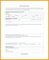 Free Blank Incident Report Form Simplyknox Co