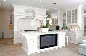 Kitchen Television Television In Kitchen Above Refrigerator Having Television In