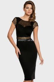 Knee Length Black And Gold Formal Dresses Naf Dresses
