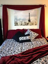 Paris Themed Bedroom Black And White Cool Red And Black Bedroom For  Interior Designing Home Ideas