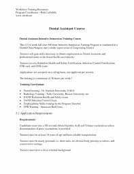 Dental Assistant Resume With No Experience Awesome Dental Assisting