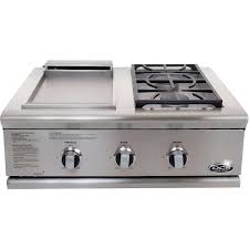 dcs liberty 30 inch natural gas grill with double side burner griddle unit