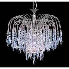 shower 47cm crystal waterfall chandelier st02000 47 06