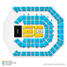 Mgm Seating Chart View Curious Mgm Grand Garden Arena Seating Chart With Rows Mgm