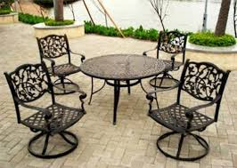 Outdoor U0026 Garden Luxury Outdoor Patio Dining Set With Large Wrought Iron Outdoor Furniture Clearance