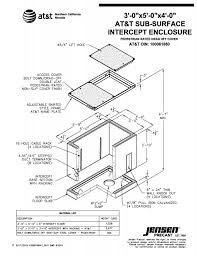 jensen precast precast concrete manufacturer serving california Att Home Base Plans at&t 3'x5'x4' intercept pullbox pedestrian drag off cover page 1 of 2 at&t home base plans