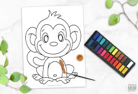 You can use our amazing online tool to color and edit the following cartoon monkey coloring pages. Cute Baby Monkey Coloring Page For Kids Simple Mom Project