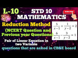 linear equation in two variable ncert