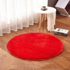 review round red rug