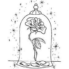 Disegno Di La Rosa Della Bella E La Bestia Da Colorare La Bella E