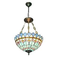 stain glass pendant classic inverted lamp modern creative stained glass pendant light indoor lighting for living