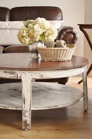 coffee round distressed white table best gallery of tables furniture inspirational on
