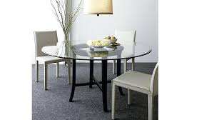 halo ebony round dining table with glass top reviews crate and barrel sets chairs in