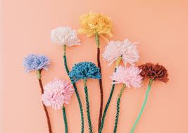 diy kids craft diy pom pom flowers