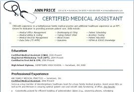 Medical Assistant Resume Template Free Best Of Resume Sample Templates Certified Medical Assistant Field Examples