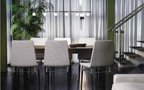 bjursta brown black extendable table seats 6 8 and preben chairs with light grey cover