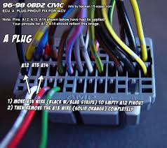 3 wire to 2 wire iacv conversion for 96 98 civic your engine and wiring is now setup to use the 2 wire iacv plug you can now connect your obd2a to obd1 ecu jumper harness and plug in your obd1 ecu
