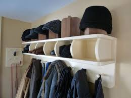 Wall Mounted Coat Rack With Cubbies White Wooden Coat Rack With Open Shelf And Hat Storage With Shirt 26