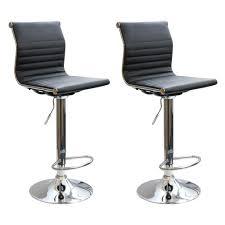 amerihome adjustable height chrome swivel cushioned bar stool (set