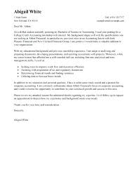 Internship Cover Letters For College Students Accounting Volunteer