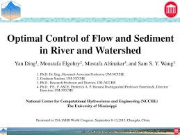 Ppt Optimal Control Of Flow And Sediment In River And
