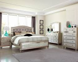 tufted bedroom furniture. Coaster Furniture Bling Game 4pc Button Tufted Bedroom Set In Platinum Metallic Discounts