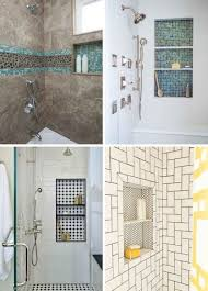 Image Master Bathroom Shower Niche With Contrasting Tile Emily Henderson Rethinking The Shower Niche Why Think The Ledge Is