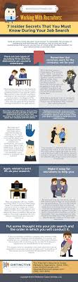 work recruiters in job search infographic infographic showing how to work recruiters on your job search