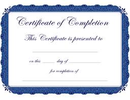 Certificate Of Completion Templates Certificate Completion Certificates Templates Free