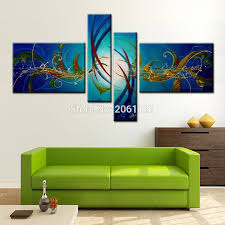 Modern Paintings For Living Room Online Buy Wholesale Painting Living Room Blue From China Painting