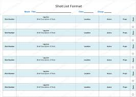 class list template word shot list template 6 free shot lists for word and excel