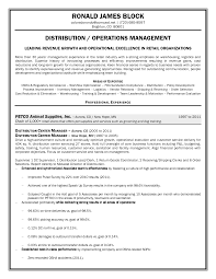 Ideas Collection Distribution Manager Sample Resume With