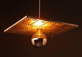 square pendant light fitting of aluminium can