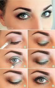green natural eye makeup for blue eyes
