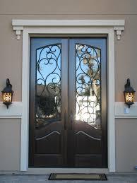 Terrific France Steel Entry Door Design With Artistic Iron Work - Iron exterior door