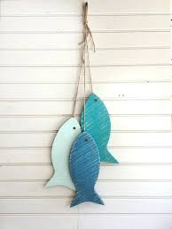 wooden fish wall decor best ideas on art grey painted string of made with wood light wooden fish wall decor  on painted wood fish wall art with wooden fish wall decor 7 ideas for your beach house bliss colorful