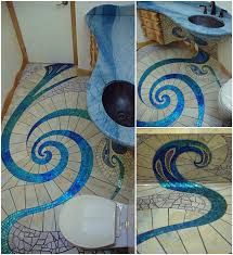 diy spiral mosaic tile floor within decor 6