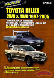 toyota shop service manuals at books4cars com 97 05 toyota pickup truck shop serivce repair manual 498 pgs hilux tacoma gasoline diesel versions by ellery incl v6 4 cyl incl 1rz e 3rz fe 5vz fe