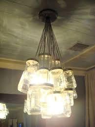 how to make mason jar chandelier