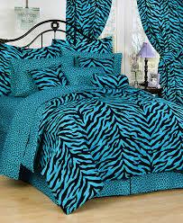 pink green purple blue zebra print bedding