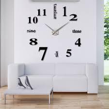 Small Picture Ergonomic Modern Large Wall Clock 13 Large Modern Wall Clocks Uk