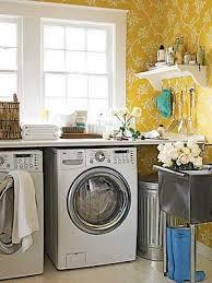 laundry room yellow laundry rooms