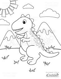 Simple dinosaurs coloring page to print and color for free : Free Printable T Rex Dinosaur Coloring Page Printable Cuttable Creatables Dinosaur Coloring Pages Free Kids Coloring Pages Free Coloring Pages
