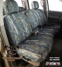 seatsaver seat protector 2001 03 chevrolet s10 gmc sonoma crewcab rear fold down bench w on adj built in headrests true timber 3d image ss7360ttxd