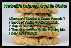 herbalife oatmeal cookie shake recipe more