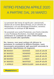 Comune di Giulianova - Pensioni anticipate al 26 marzo 2020. Il Comune  rende noto il calendario per presentarsi agli Uffici Postali secondo la  ripartizione di cognomi