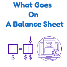 Online Balance Sheet Leaning Online What Goes On A Balance Sheet In Accounting