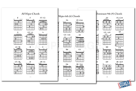 Bass Guitar Chord Chart Pdf Printable Guitar Chord Pdf Ebook Download Play Any Song